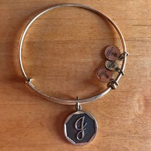 Gold J Initial Alex and Ani Bracelet